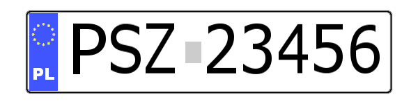 Number plate rural district